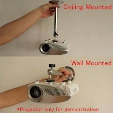 Ceiling Mounted Projectors by Wall Ceiling Lcd Dlp Mini Projector Bracket 360 Degree Swivel
