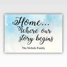 personalized home decor personalized home where our story begins quality canvas wrap