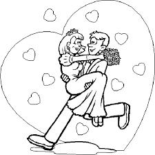 dessin mariage coloriage mariage 4 à colorier allofamille