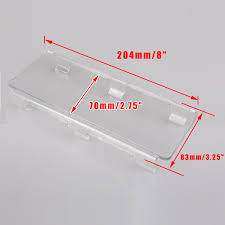 Led Light Bar Lens Cover by 1x 8 U0026 034 Inch Lens Cover Snap On Clear For Straight Curved Led