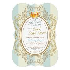 prince baby shower invitations blue gold royal prince baby shower invitations ladyprints