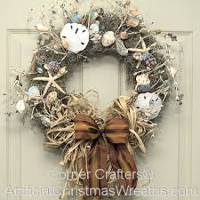 seashell wreath sea shell wreath artificialchristmaswreaths seashell