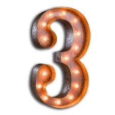 marquee numbers with lights rusty 24 inch number 3 marquee light by vintage marquee lights
