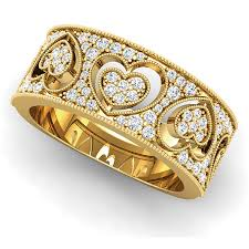 golden heart rings images Awesome gold heart band ring jewellry 39 s website jpg