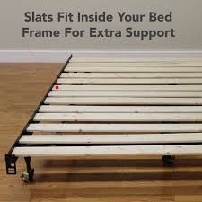 Metal Bed Frame With Wooden Slats Modern Sleep Heavy Duty Wooden Bed Slats Bunkie Board Frame For
