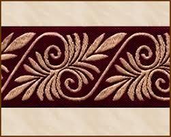 2 inch ribbon acanthus jacquard ribbon fabric trim 1 1 2 inch burgundy