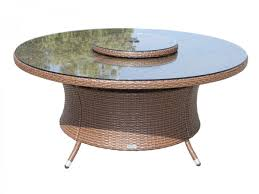 Rattan Patio Dining Set - individual oxford table brown