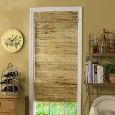 radiance kona indoor outdoor woven wood bamboo roman shade with 6