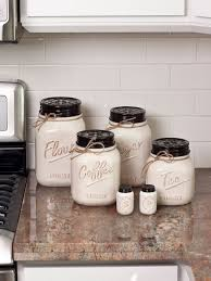 rustic kitchen canister sets best 25 jar kitchen decor ideas on jar