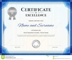 Free Certificate Of Excellence Template Certificate Of Excellence In Vector Stock Vector Image 68719115