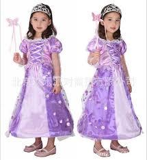 Ariel Halloween Costume Kids Children Accessories Halloween Costums Children Purple Elegant