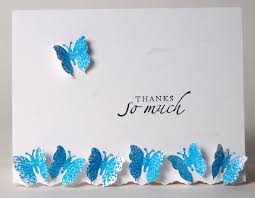 thank you cards 3d pop up butterfly cards blank note cards