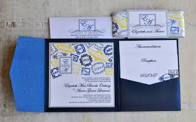 pocket fold invitations pocket fold wedding invitation design fee navy silver and