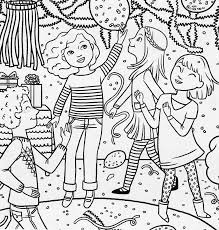 pajama party coloring pages printable tea party coloring pages