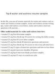 Server Resume Template Free Resume Server Resume Sample Objective Of Waitress Cover Letter