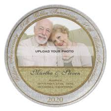 50th wedding anniversary plates 50th wedding anniversary plates zazzle