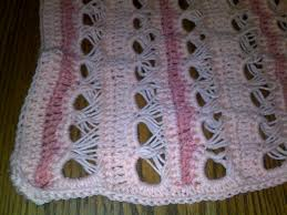 crochet broomstick lace crocheting and in general broomstick lace baby blanket
