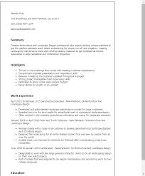General Contractor Resume Samples by Professional Horticulture And Landscape Design Templates To