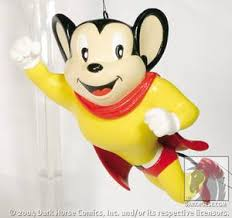 mighty mouse ornament profile comics