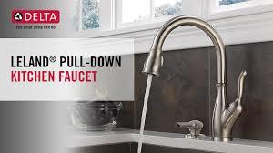 delta leland kitchen faucet delta leland single handle pull sprayer kitchen faucet with