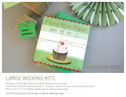 wishing paper large kits flying wish paper