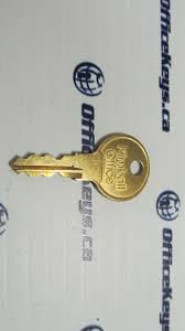 Office Desk Lock by National Kimball 001 200 Series Double Sided Code Keys