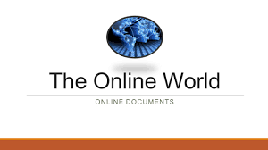 Online Spreadsheets The Online World Online Documents Online Documents Online