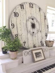 Living Room Clocks Little Farmstead Diy Farmhouse Wood Spool Clock