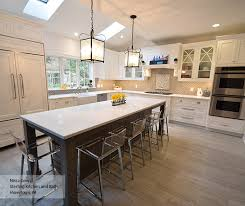 cerused oak kitchen cabinets white inset cabinets with a gray kitchen island omega