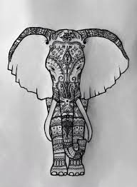 step by step how to draw an elephant head art it all out