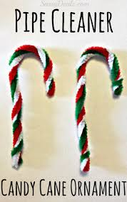 easy pipe cleaner candy cane ornament for kids candy canes and pipes