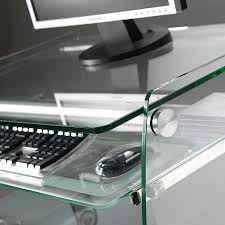 Computer Desks Glass by Contemporary Computer Table Glass Pforyou Clear Pc01