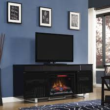 enterprise electric fireplace entertainment center in black