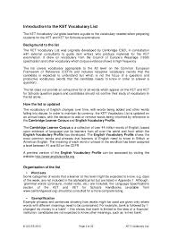 Activities To Put On Resume 22105 Ket Vocabulary List 1