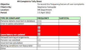 Root Cause Analysis Excel Template Tally Sheet For Root Cause Analysis Business Analyst Learnings