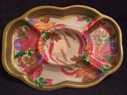 set of 3 thanksgiving serving trays disposable sturdy compartment