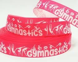 ribbon for hair that says gymnastics gymnast bow ribbon etsy