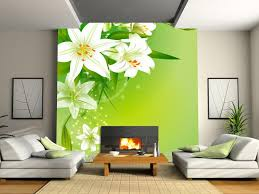 green wallpaper home decor new customized home decor fresh lily tv background wallpaper bedroom