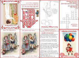 Printable Activity Book Free Printable Valentine Activity Book For Children
