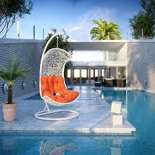 endow rattan u0027 outdoor wicker patio swing chair free shipping