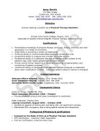 Stockroom Associate Resume Resume Format For Physiotherapist Resume Ideas