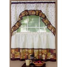 cool coffee themed kitchen curtains coffee themed kitchen