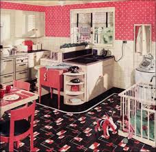 Retro Kitchen Curtains by Fantastic Retro Kitchen With Sharp Design Idea Retro Style