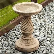 spiral garden bird bath