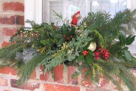 Window Box Decorations For Christmas Outdoor by