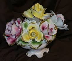 capodimonte roses capodimonte floral centerpiece with roses from about 1950 pottery