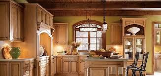 Thomasville Cabinets Price List by Glazed Kitchen Cabinets Kraftmaid Maple Biscotti With Cocoa Glaze