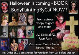 halloween body paint halloween face paint u2013 body painting by cat