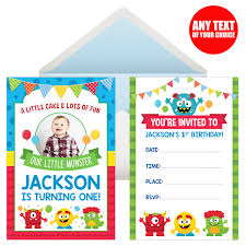 1st Birthday Halloween Invitations by Mini Monster 1st Birthday Party Supplies Canada Open A Party