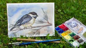 watercolor tutorial chickadee how to paint a chickadee in watercolor the frugal crafter blog